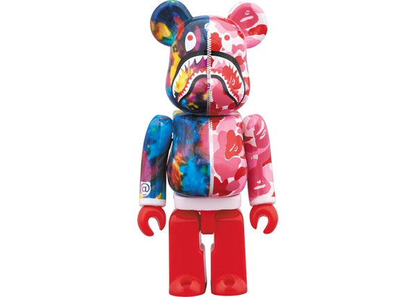 4b8491c6 Bearbrick x Bape x Mika Ninagawa Shark 100% & 400% Set Pink