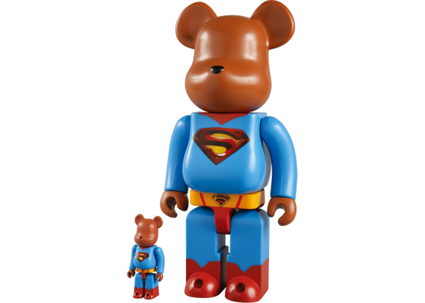 Bearbrick x Superman Returns 100% & 400% Set Blue - 2006
