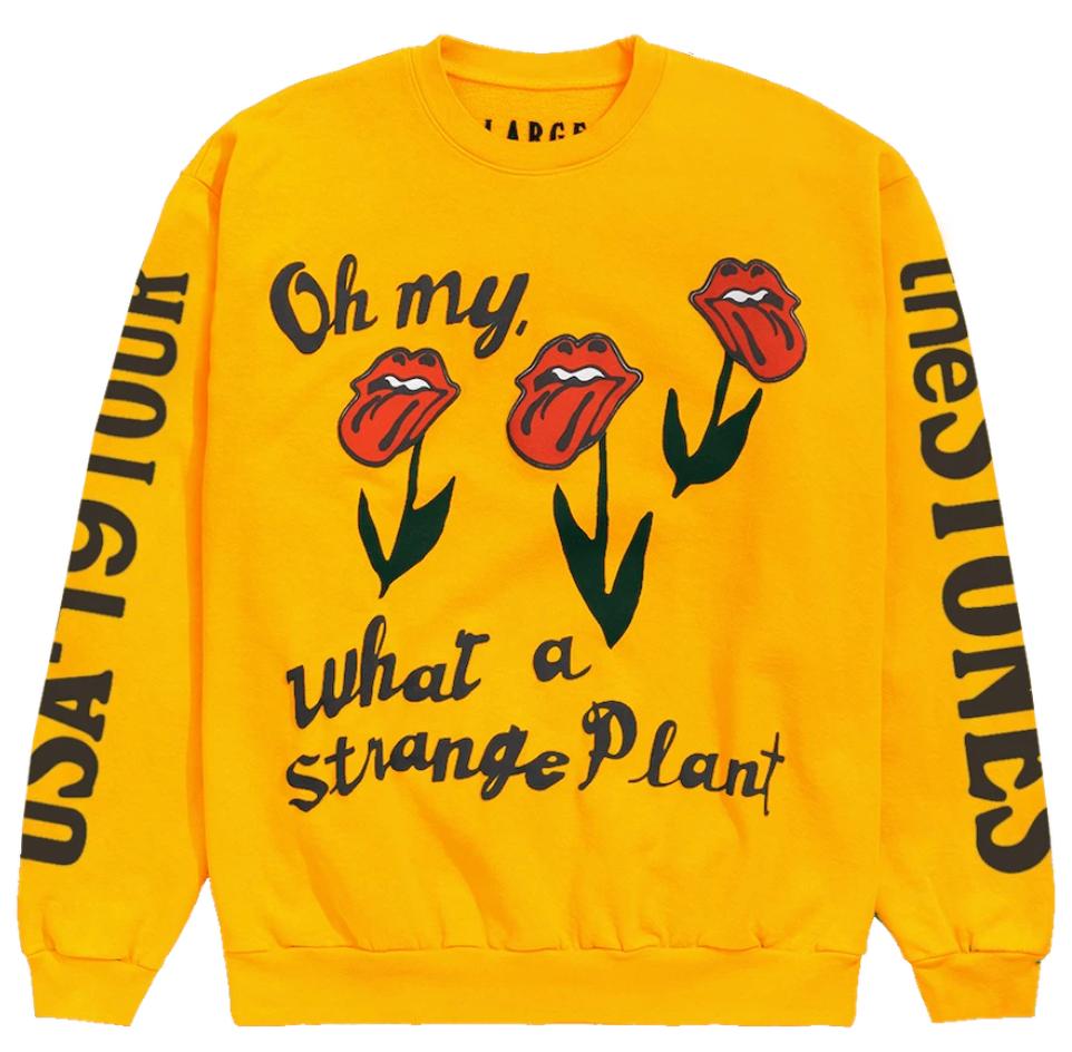 Cactus Plant Flea Market Rolling Stones Usa 19 Tour Crewneck Gold by Stock X