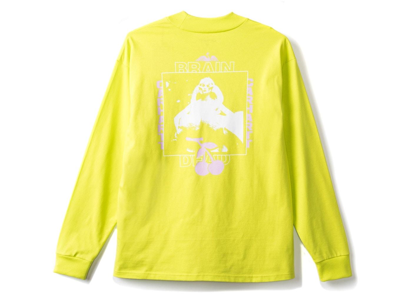 Carhartt Wip X Brain Dead Swan Long Sleeve Tee Lime Green Ss18