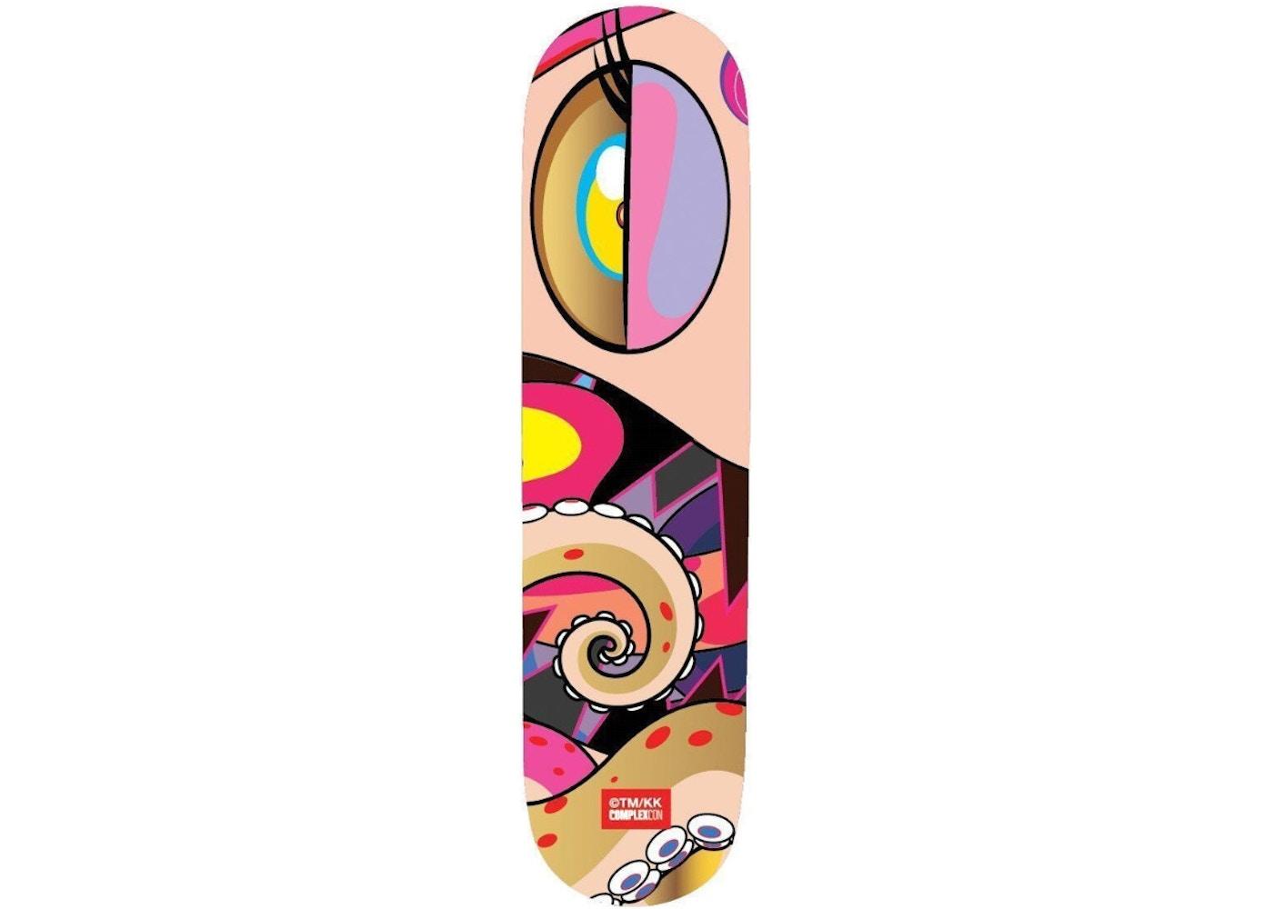 b0c0b9ba ComplexCon Face Skateboard Deck Gold - FW17