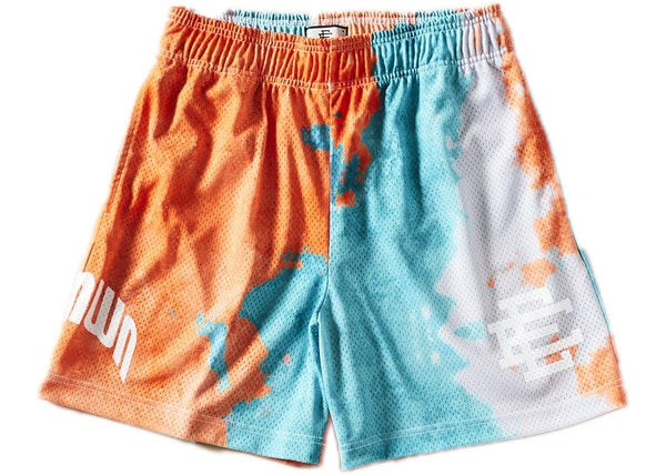 fd12b503 Eric Emanuel Miami Tie Dye Basketball Shorts Turquoise/Orange