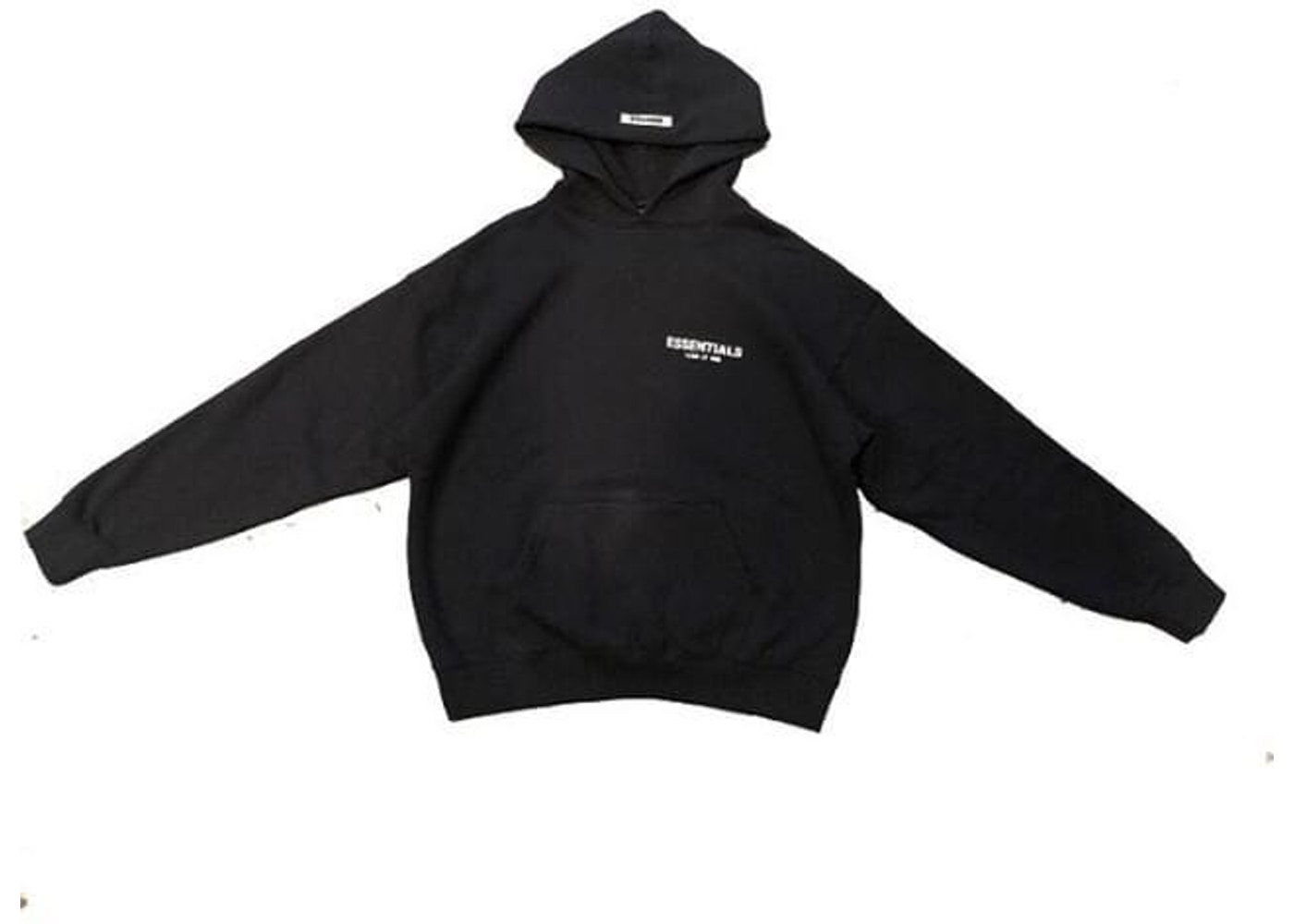 FEAR OF GOD ESSENTIALS Photo Pullover Hoodie (FW19) Black