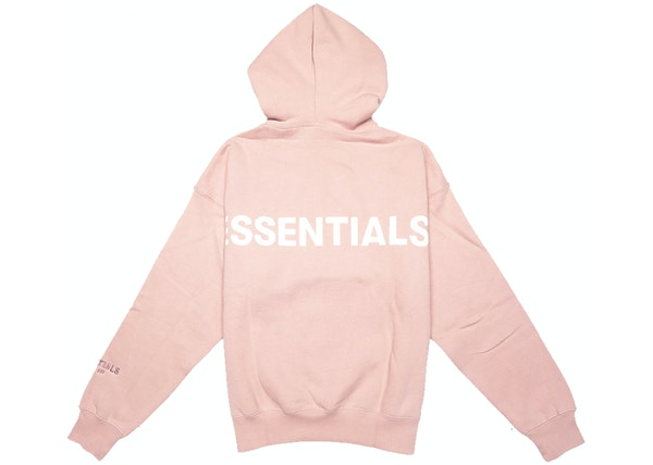 FEAR OF GOD ESSENTIALS Pink 3M Logo Pullover Hoodie Blush