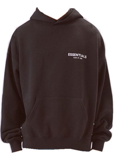 FEAR OF GOD Essentials Logo Pullover Hoodie Black