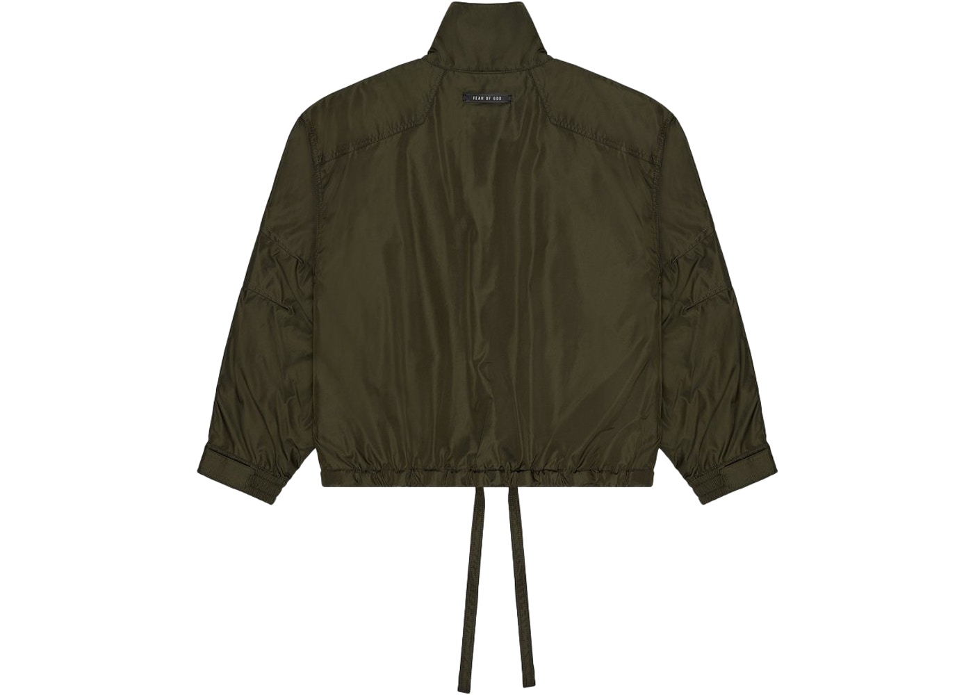 FEAR OF GOD Pullover Track Jacket Olive Green - SIXTH COLLECTION