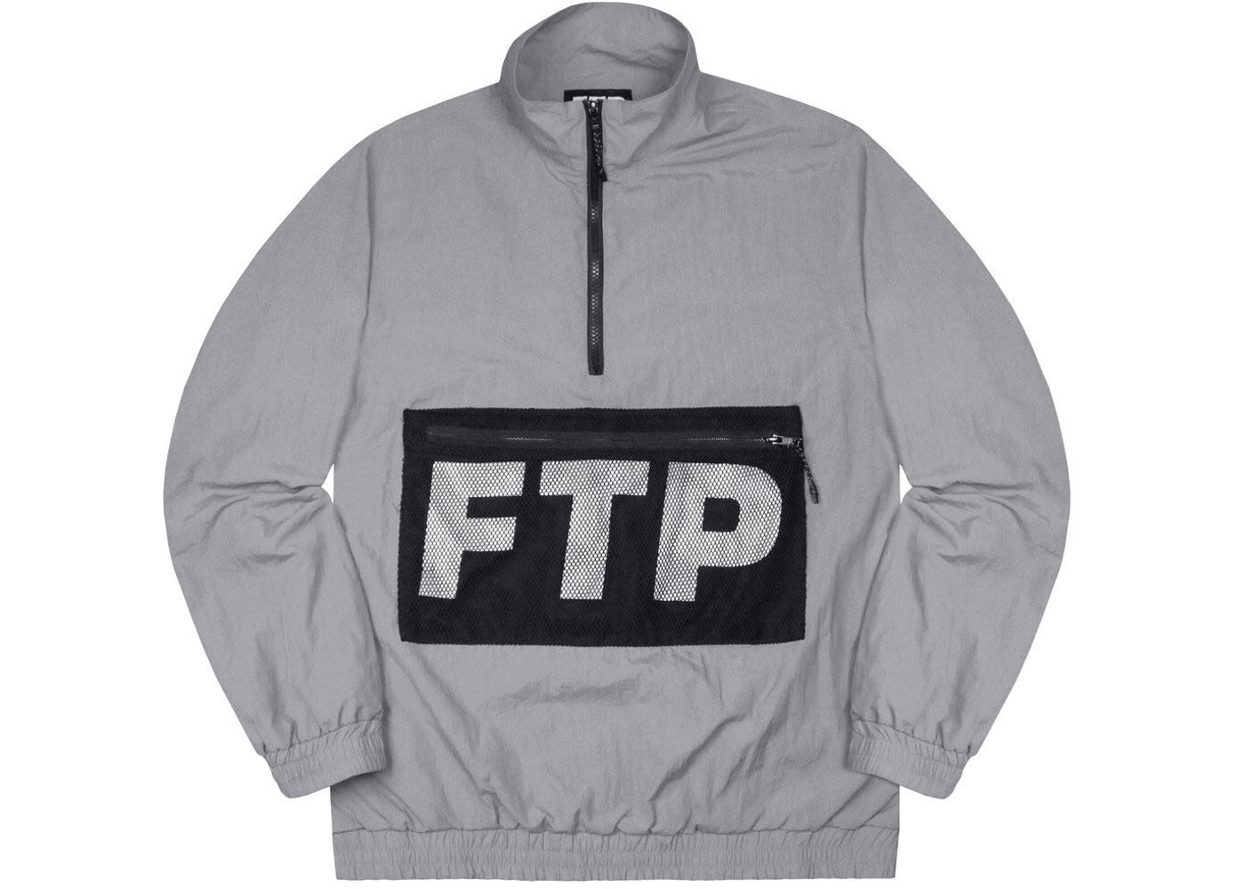 8c93b50d Sell. or Ask. Size: XXL. View All Bids. FTP Mesh Pocket Half Zip Gray