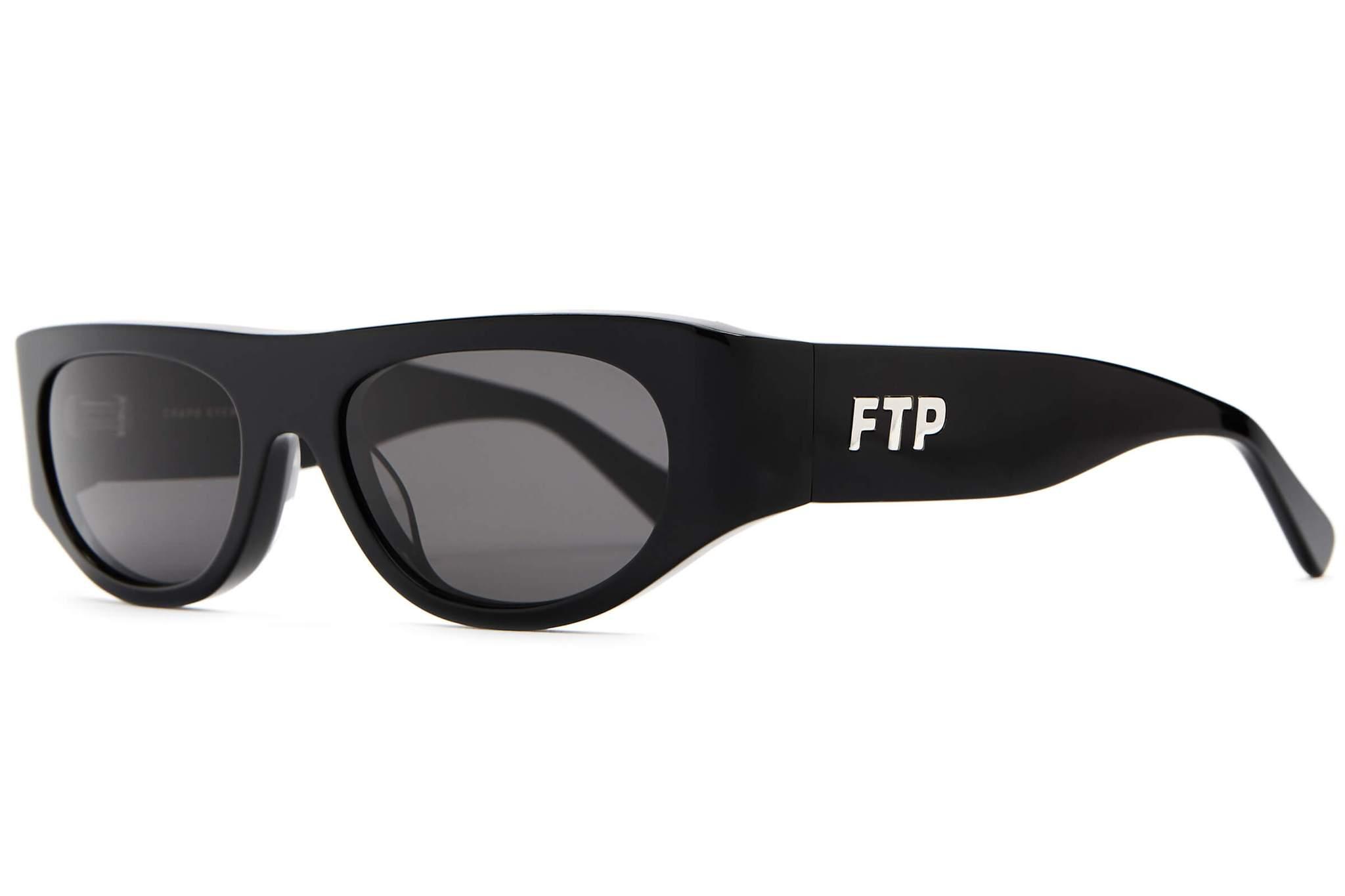 Ftp X Crap Eyewear Loc Sunglasses Black/Grey by Stock X
