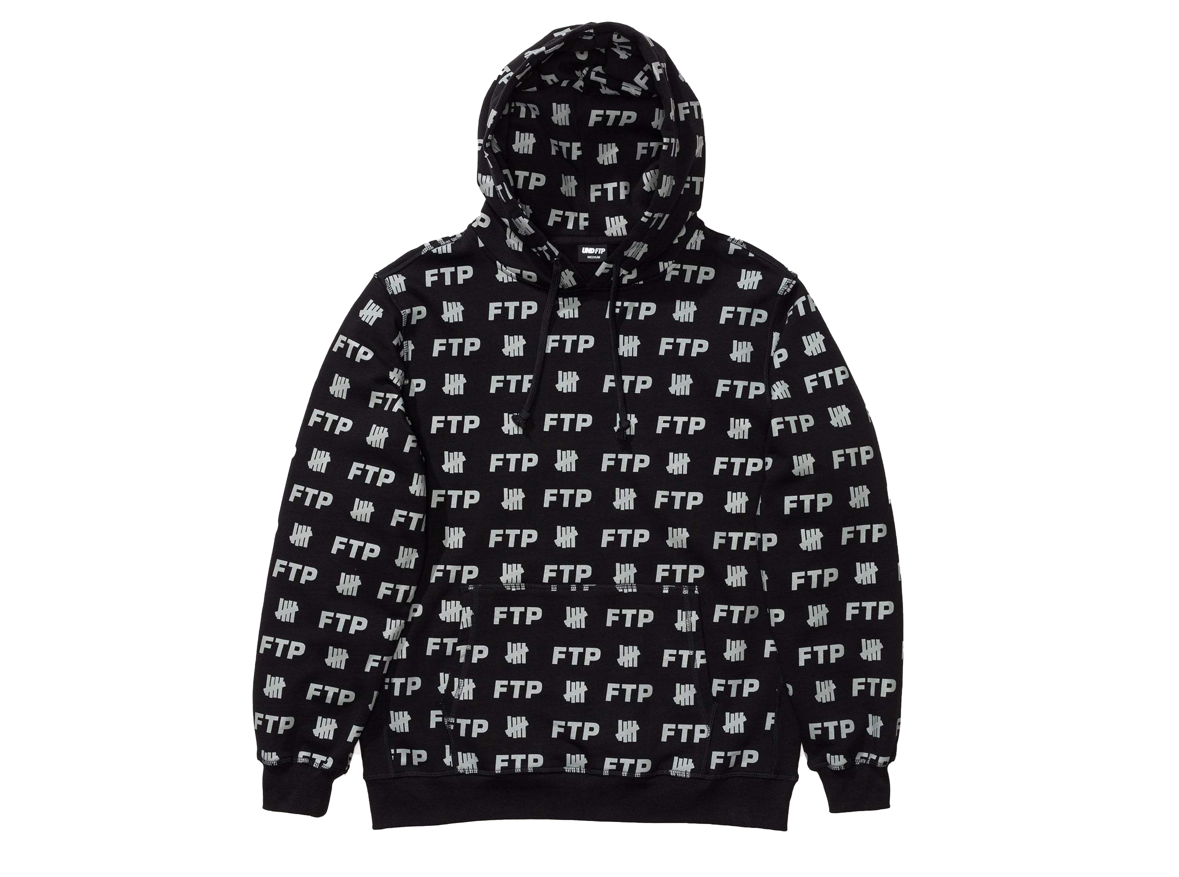 Ftp X Undefeated All Over Hoodie Black by Stock X
