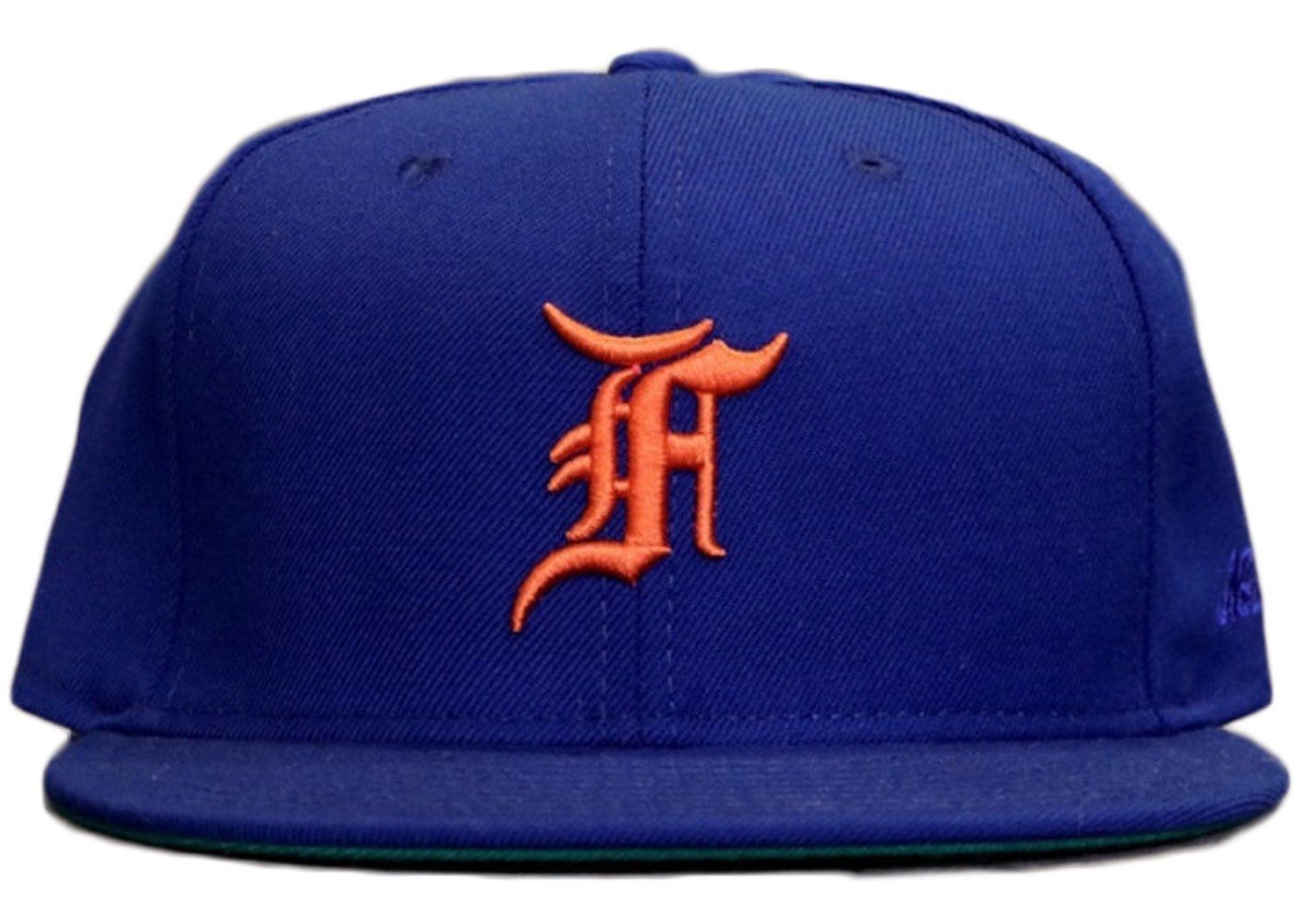 FEAR OF GOD All Star New Era Fitted Cap Hat Blue Orange - Fifth ... 2aa9270c83d