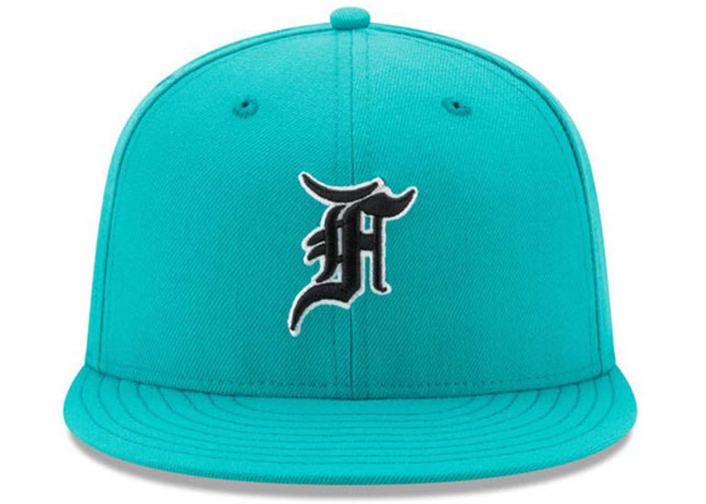 FEAR OF GOD All Star New Era Fitted Cap Hat Teal - Fifth Collection ec4a0735c9f
