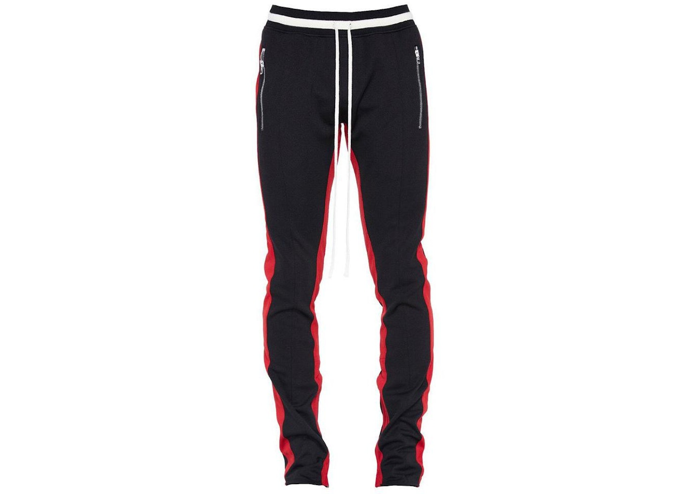 05c1b0bc325a02 FEAR OF GOD Double Stripe Track Pants Black/Red Stripe - Fifth ...