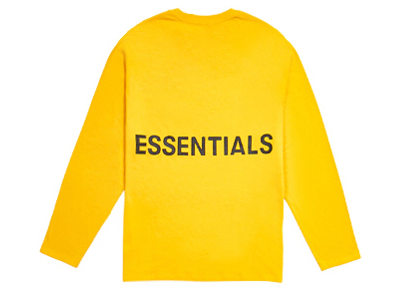 0ee2e12374 FEAR OF GOD Essentials Boxy Graphic Long Sleeve T-Shirt Yellow