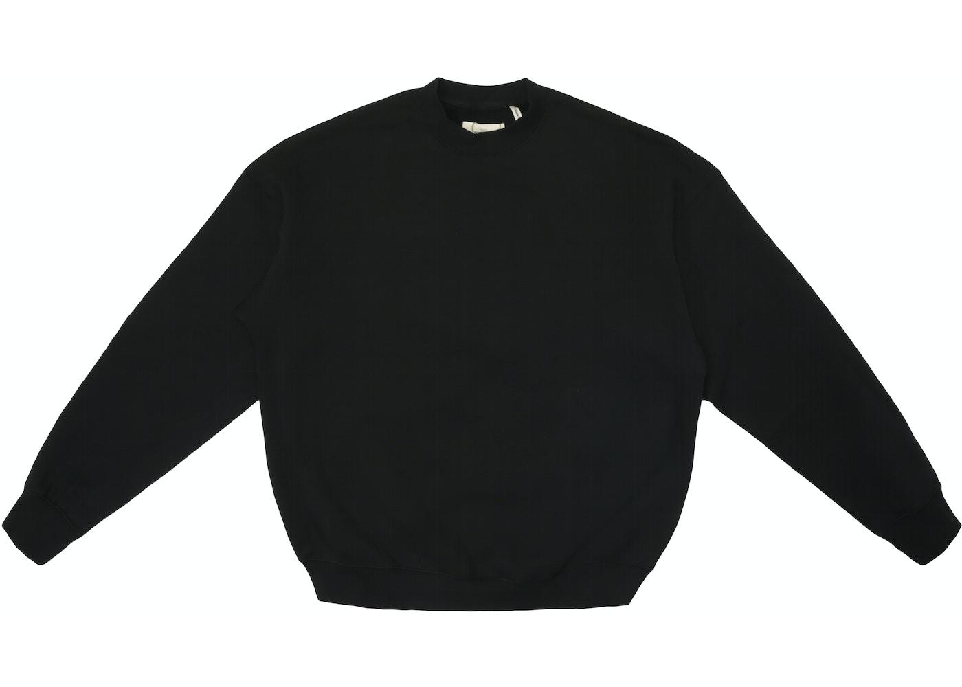 9586e7b88 FEAR OF GOD Essentials Crew Neck Sweatshirt Black