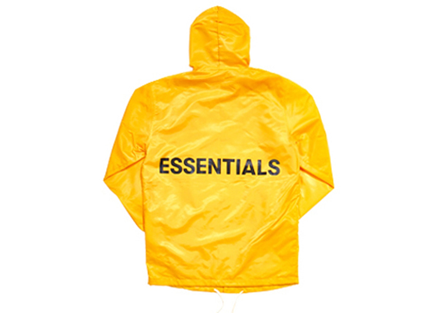 FEAR OF GOD Essentials Graphic Hooded Coach Jacket Yellow