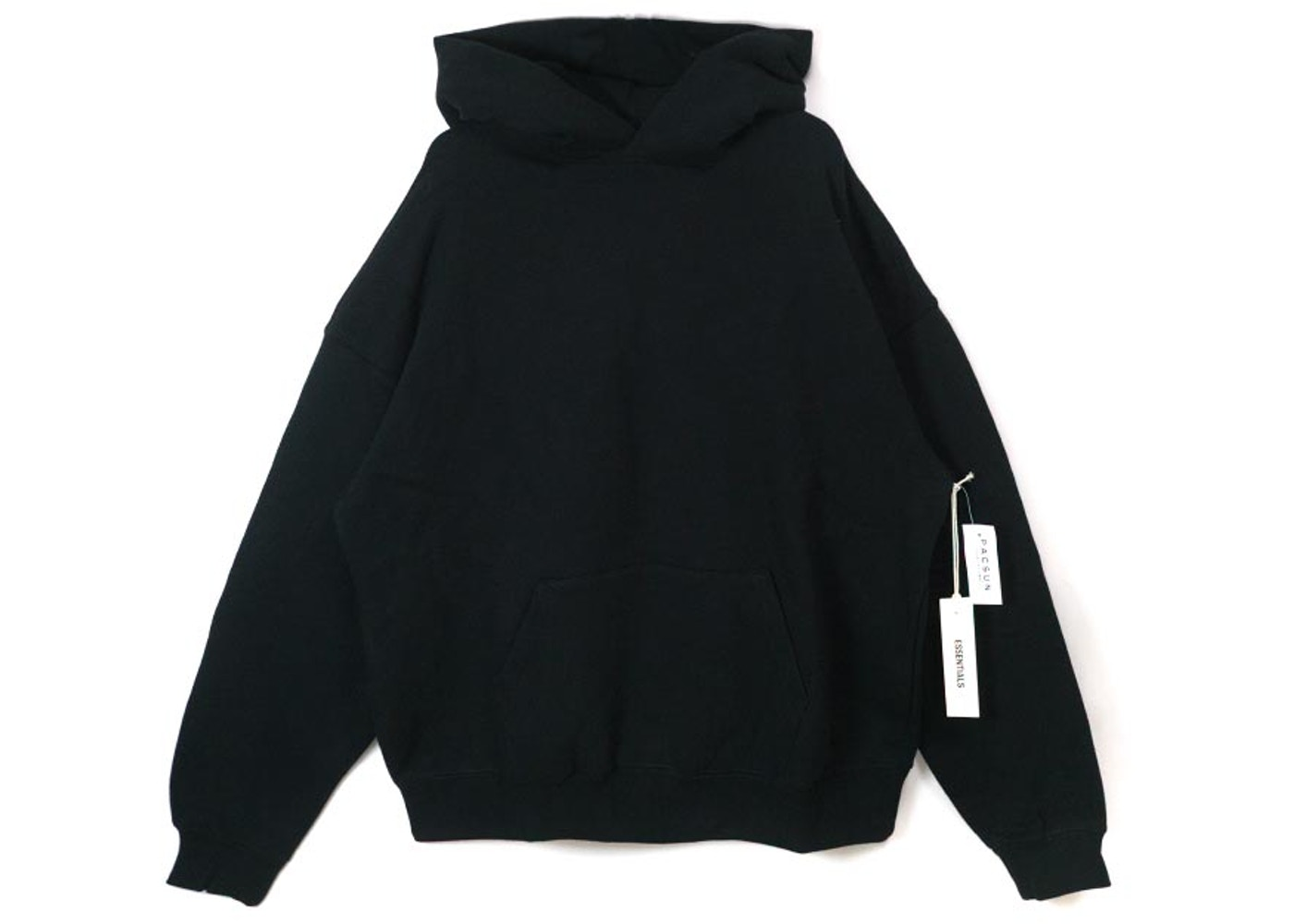00ad9094 FEAR OF GOD Essentials Graphic Pullover Hoodie Black - Essentials