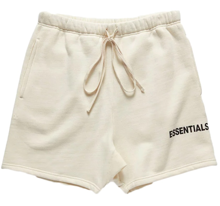 Fear Of God Essentials Graphic Sweat Shorts Cream by Stock X