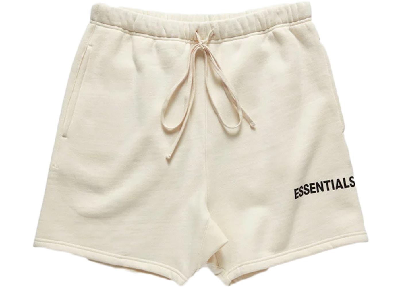 d014cae7 FEAR OF GOD Essentials Graphic Sweat Shorts Cream - Essentials