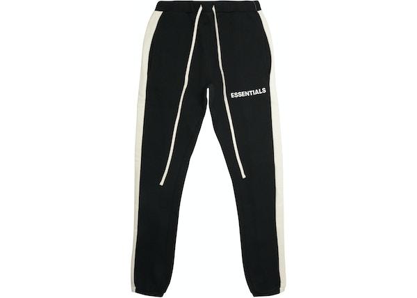 e2876ea3beabcd FEAR OF GOD Essentials Side Stripe Sweatpants Black
