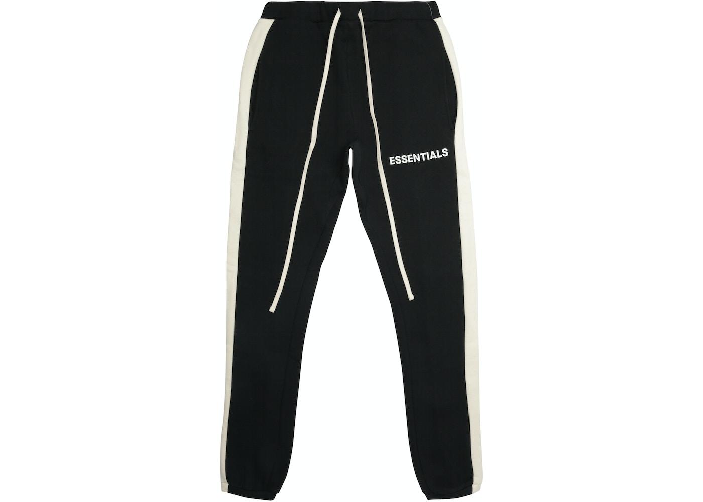 767dd5f2ea3 FEAR OF GOD Essentials Side Stripe Sweatpants Black - FW18