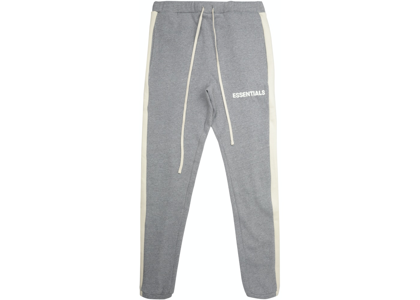 f4f346799e5 FEAR OF GOD Essentials Side Stripe Sweatpants Grey - FW18
