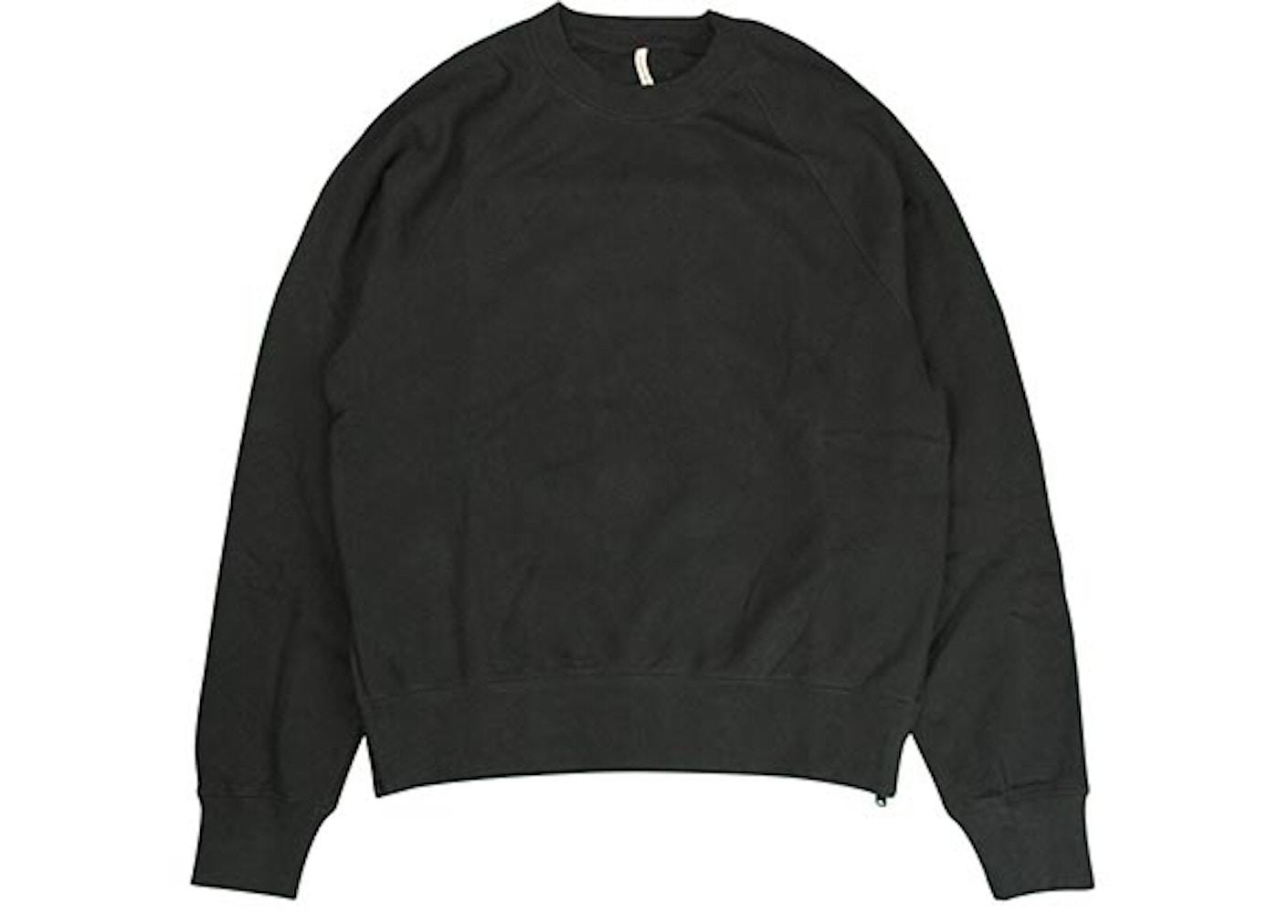 259260db0 FEAR OF GOD FOG Essentials Crew Neck Sweatshirt Black - FOG Essentials