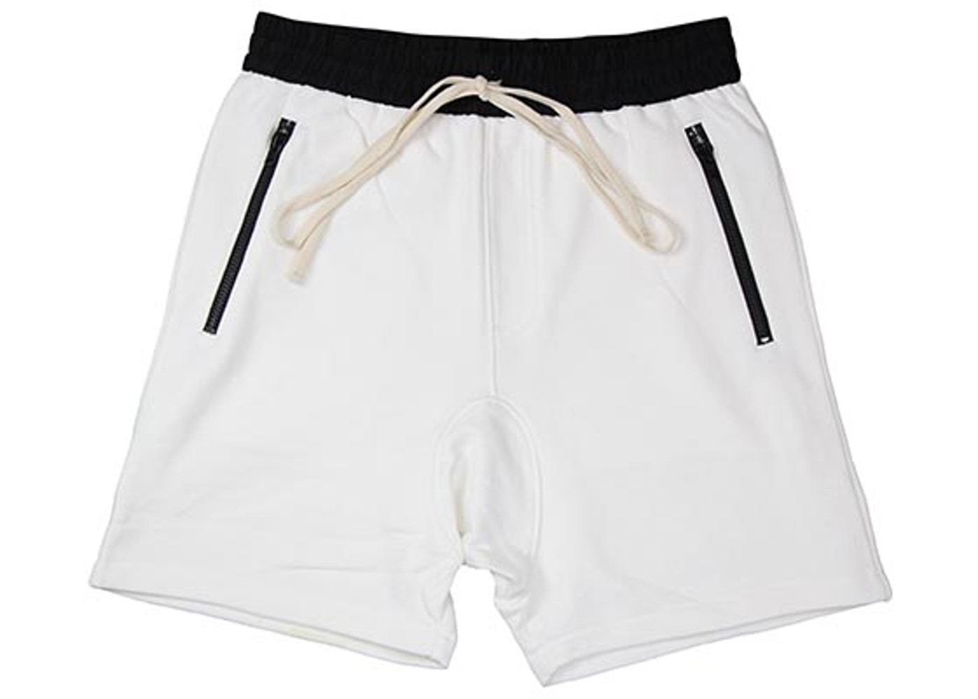2538201acf7 FEAR OF GOD FOG Essentials Drawstring Shorts White - FOG Essentials