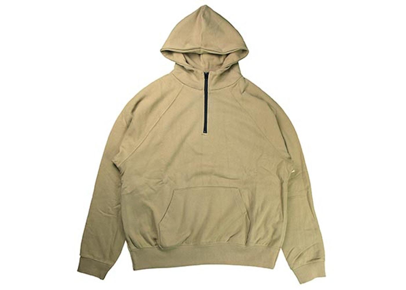 20a6e23831a1e FEAR OF GOD FOG Essentials Half Zip Pullover Hoodie Chinchilla - FOG ...