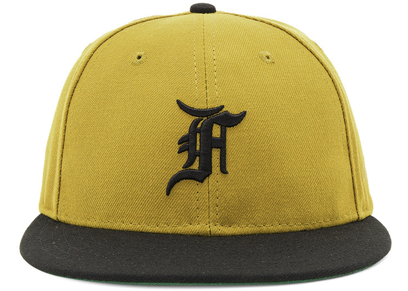 FEAR OF GOD New Era Fitted Cap Hat Vintage Gold - Fifth Collection 457544e6928