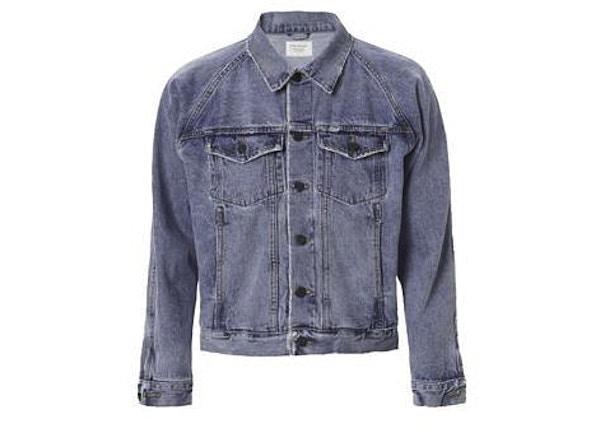 db7f106847ad4 Average Sale Price. grid. list. TOP. FEAR OF GOD Raglan Indigo Denim  Trucker Jacket Indigo