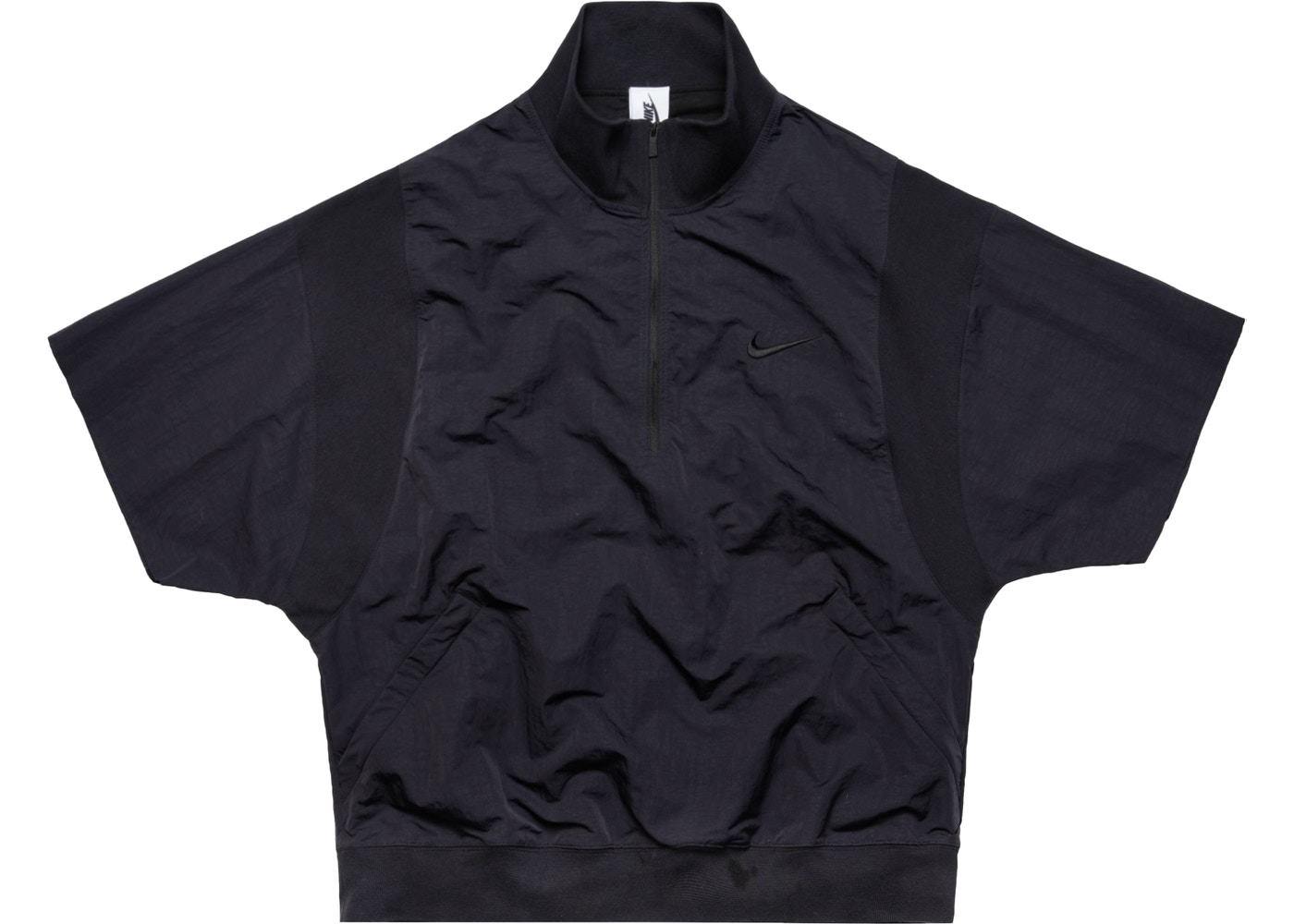 db1df8fc87b4 FEAR OF GOD x Nike 1 2 Zip Short Sleeve Jacket Black Sail Black - FW18