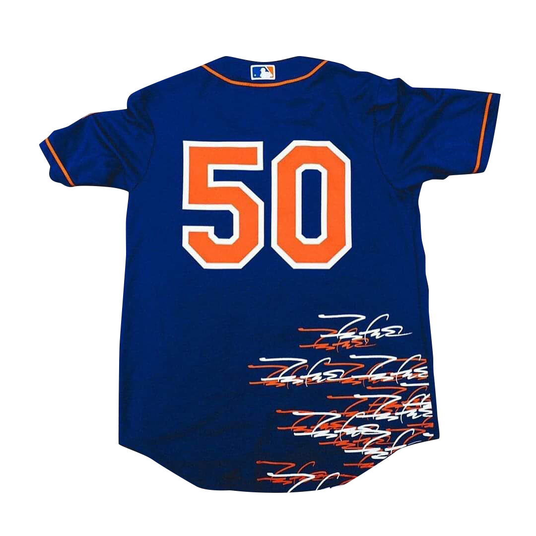 futura x new york mets baseball jersey blue ss19