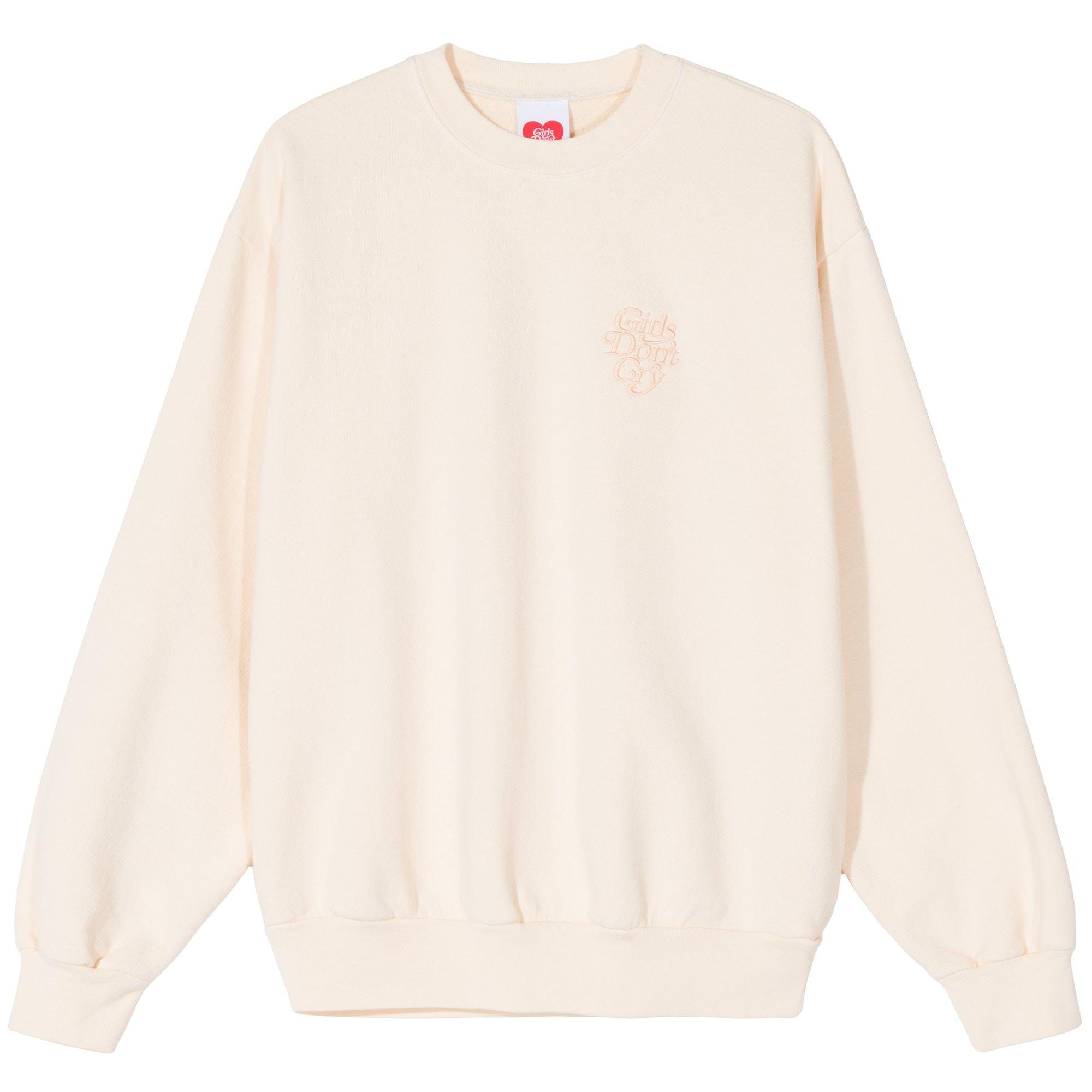 Girls Don't Cry Tonal Crewneck Sweatshirt Cream by Stock X