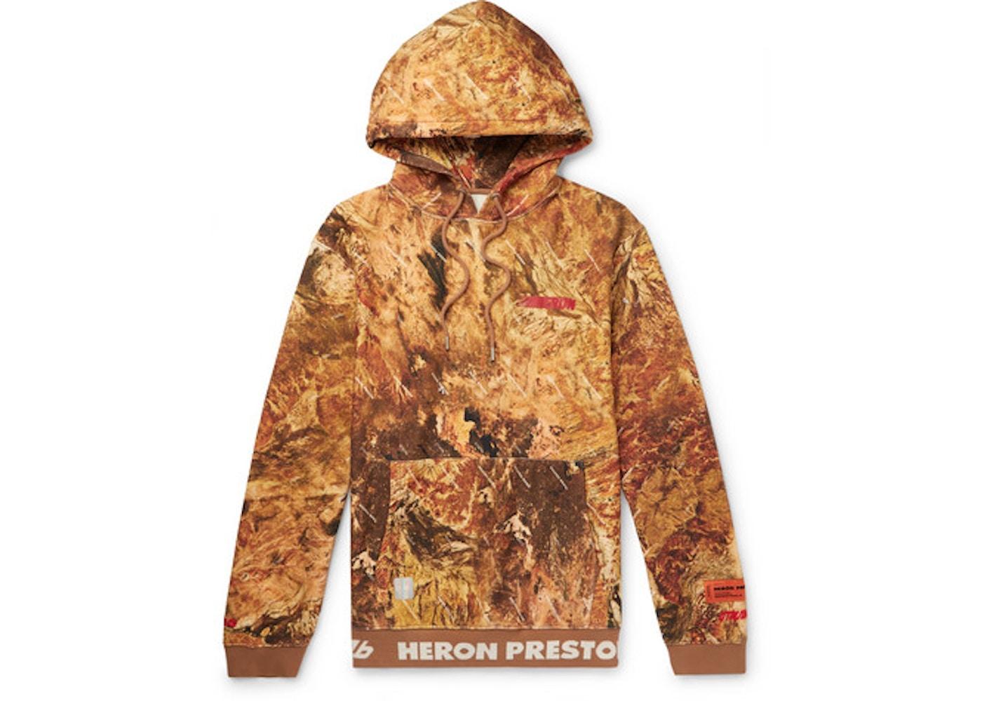 9c913e68 Heron Preston Oversized Australian Outback Print Hoodie Orange ...