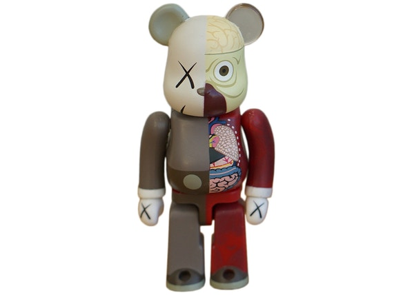 KAWS Bearbrick Dissected 100% Brown