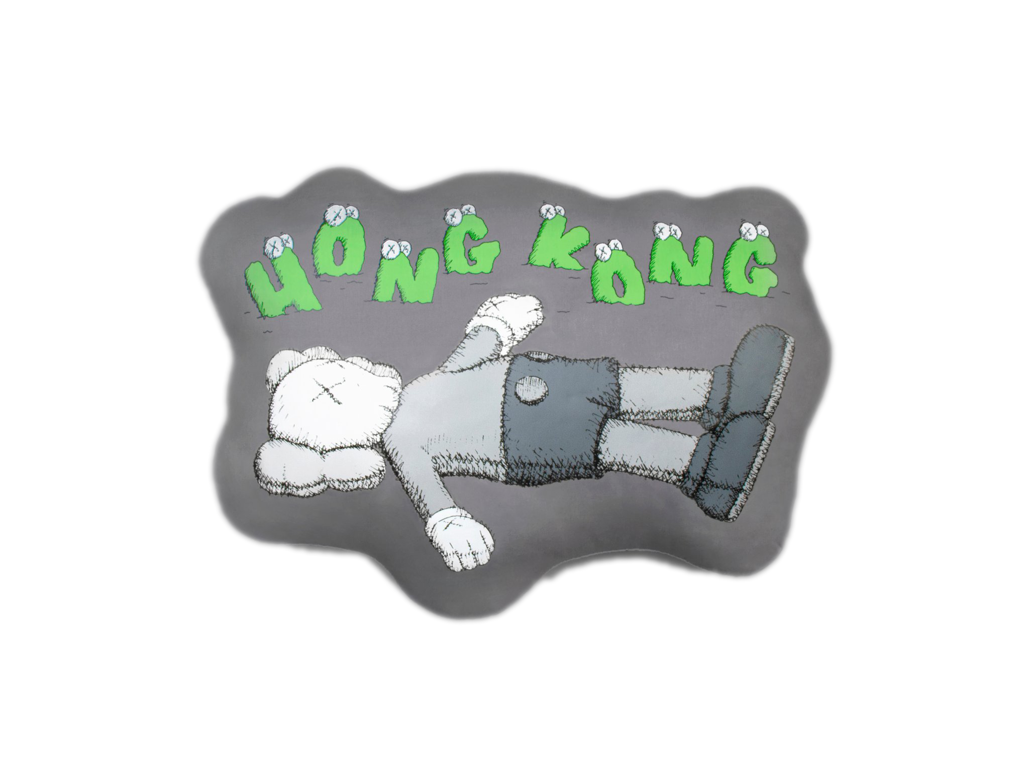 KAWS HOLIDAY Hong Kong Cushion Grey