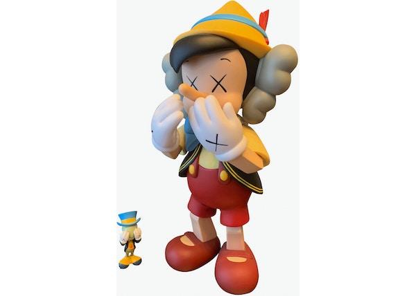 KAWS Pinocchio & Jiminy Cricket Vinyl Figure Multi
