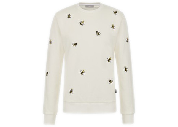 50e90f6a KAWS x Dior Embroidered Bees Crewneck Sweatshirt White