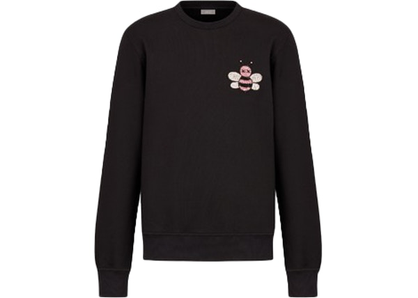 3c6221c8 KAWS x Dior Jeweled Bee Crewneck Sweatshirt Black