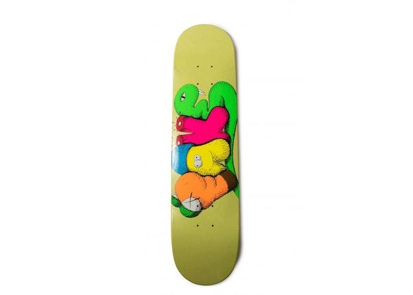 "KAWS x Real Skateboards ""Fake"" Skateboard Deck Yellow"
