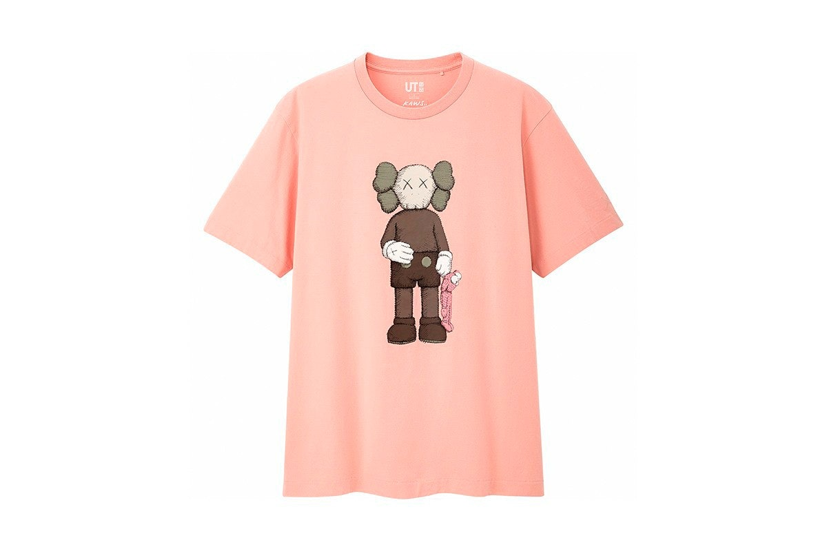 "KAWS x UNIQLO Summer T-Shirt /""Pink BFF/"" US SELLER"
