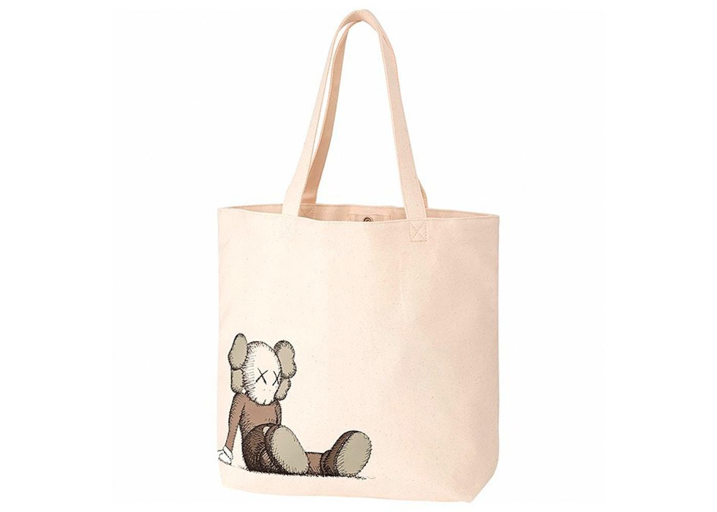 Kaws X Uniqlo Holiday Tote Bag Natural