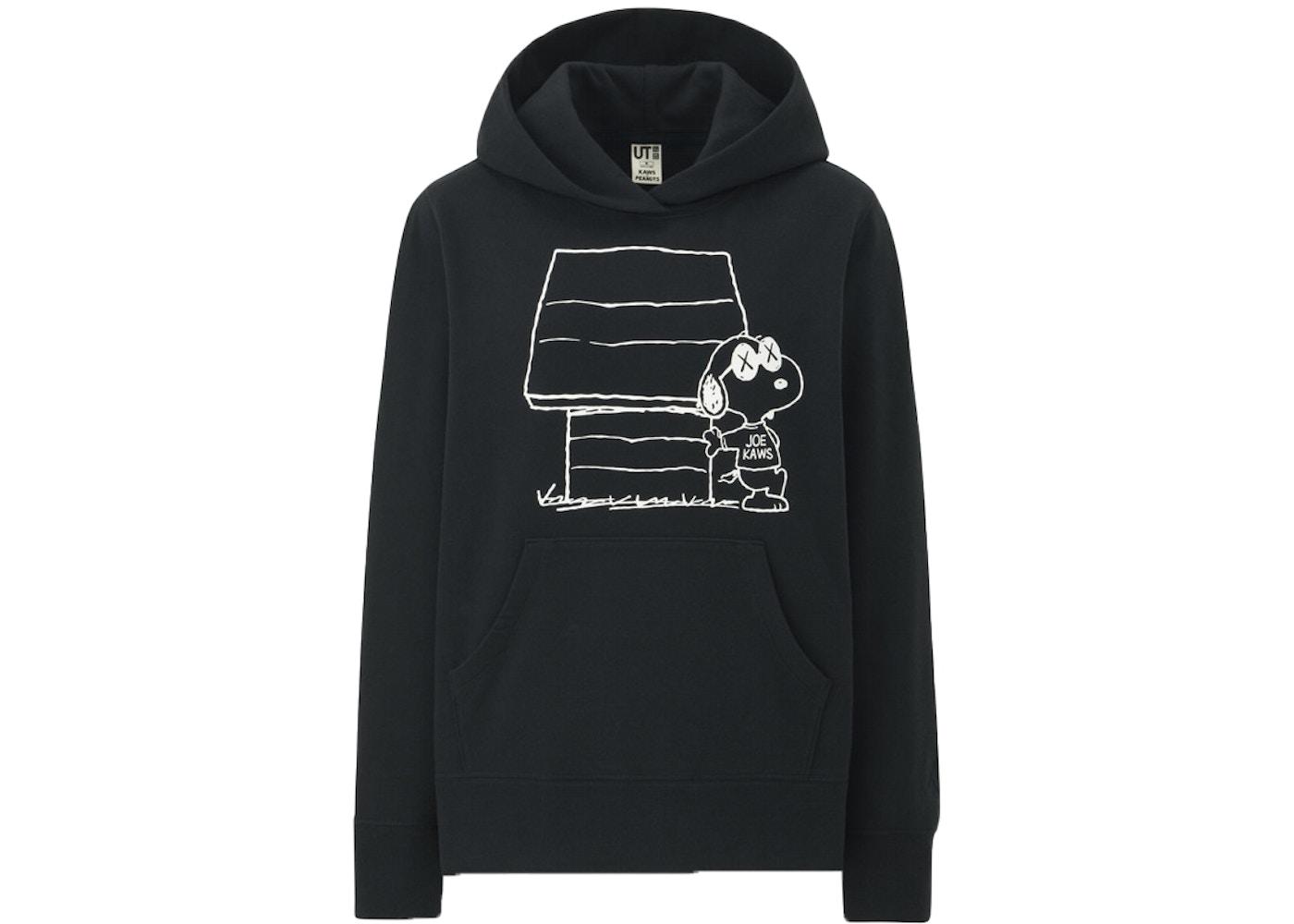 shopping price remains stable speical offer KAWS x Uniqlo x Peanuts Joe Kaws Doghouse Hoodie (US Womens Sizing) Black
