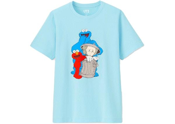 97ea0035f KAWS x Uniqlo x Sesame Street Companion Trash Can Tee (US Sizing) Light Blue