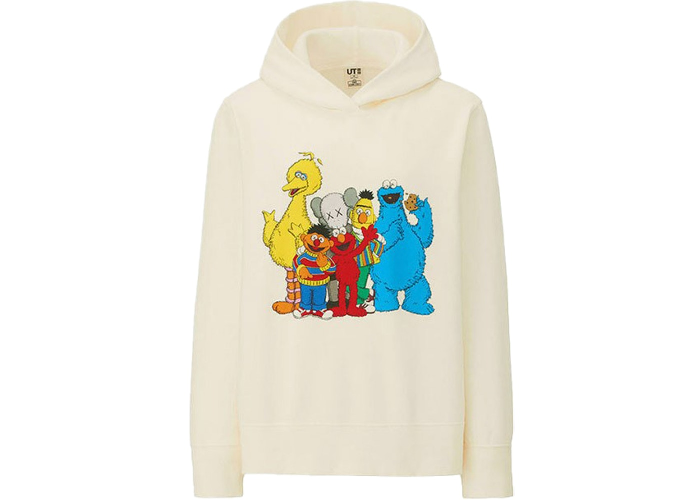 official images authorized site sneakers for cheap KAWS x Uniqlo x Sesame Street Group #2 Hoodie (US Womens Sizing) Natural