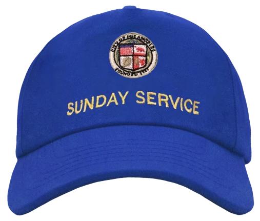 Kanye West Sunday Service Hat Blue