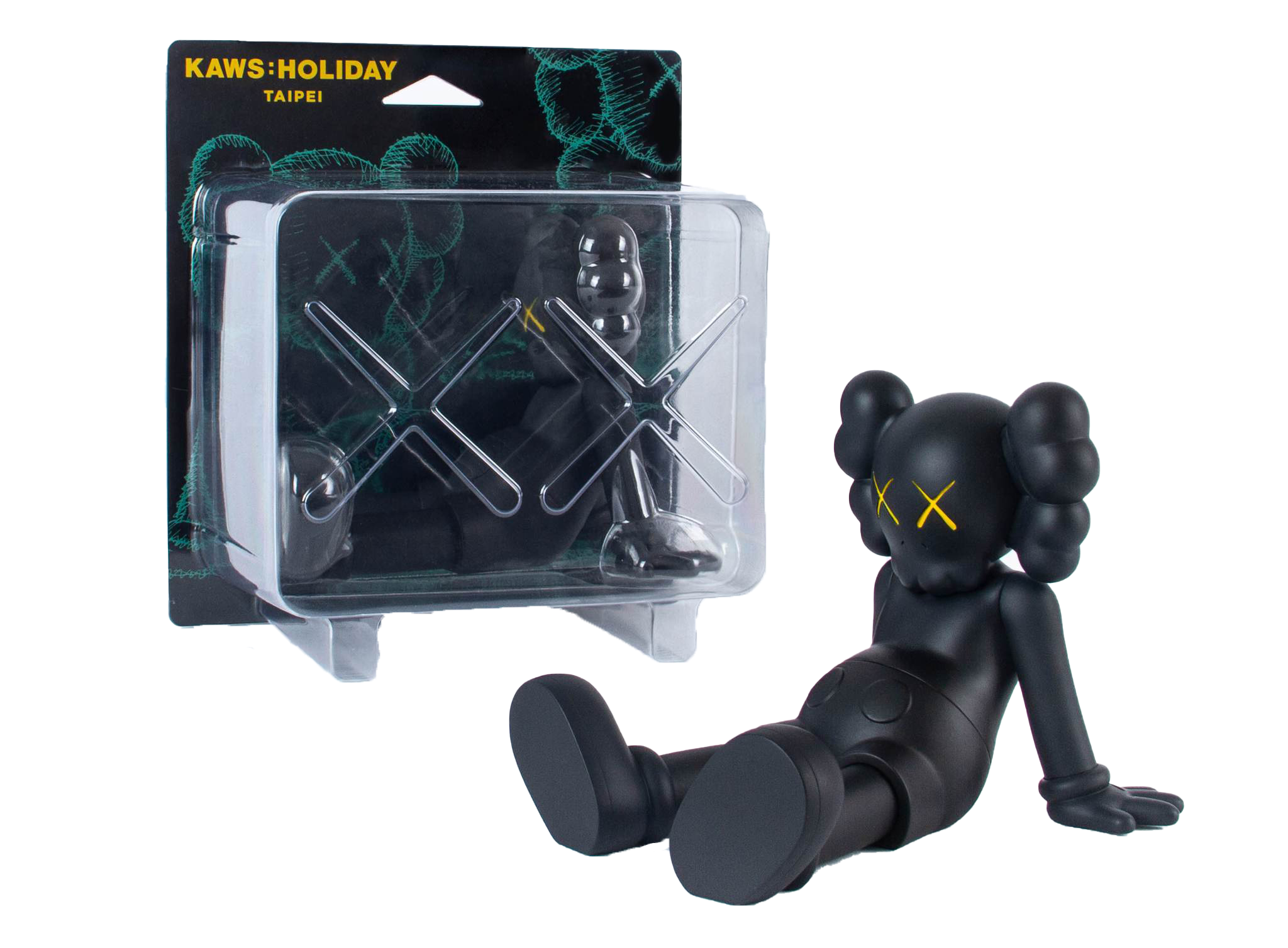"Kaws Holiday Limited 7"" Vinyl Figure Black"