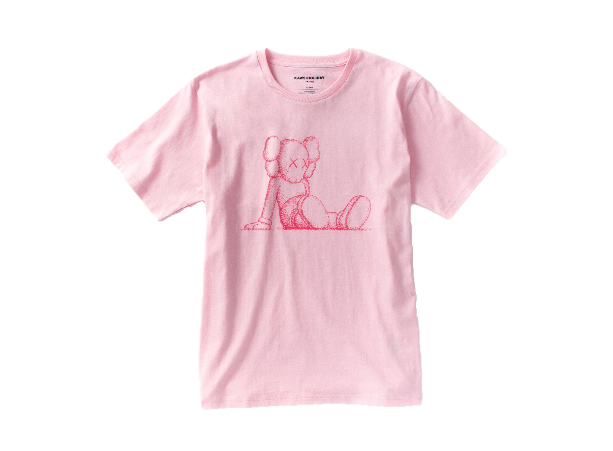 Kaws Holiday Limited Companion T-Shirt Pink