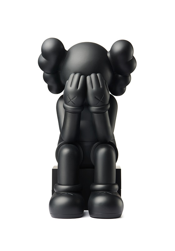 Kaws Passing Through Open Edition Vinyl Figure Black