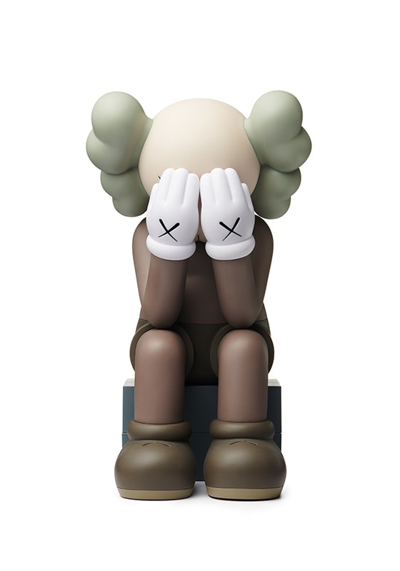 Kaws Passing Through Open Edition Vinyl Figure Brown